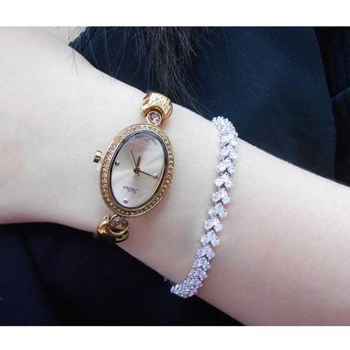 Đồng hồ nữ julius ja-313 ju1023 dây nhũ vàng