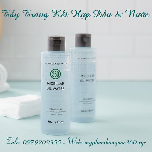 Nước tẩy trang innisfree. makeup cleanser micellar oil water 200ml