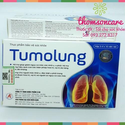 Tumolung giúp giảm nguy cơ mắc khác khối u | hỗ trợ trị xạ | hỗ trợ hệ miễn dịch | mua 10 tặng 1