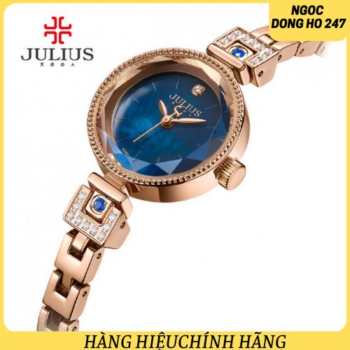 Đồng hồ nữ vòng tay lắc dây  julius hàn quốc ja-981d xanh
