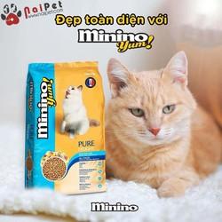 Thức Ăn Hạt Khô Cho Mèo Mọi Lứa Tuổi Vị Hải Sản Seafood Mix Minino yum 350g