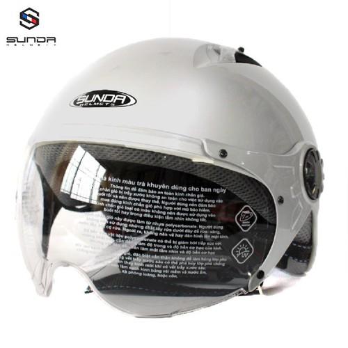 Mũ bảo hiểm nửa đầu sunda 133 size lớn dành cho người đầu to