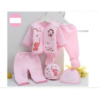 Sét 5 chi tiết trần bông cho bé sơ sinh - sét quần áo thumbnail
