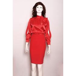 Set áo và chân váy áo phi thun, váy tuyết mưa cao cấp size L 50-60kg  COcoco thiết kế
