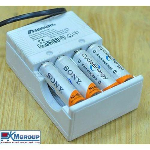 Máy sạc pin jiabao dùng cho pin tiểu 2a và 3a và pin 9w