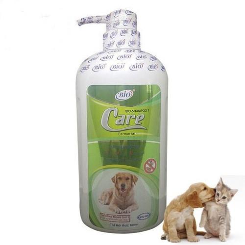 Sữa tắm bio care 500ml diệt ve rận- bọ chét- khử mùi chó mèo