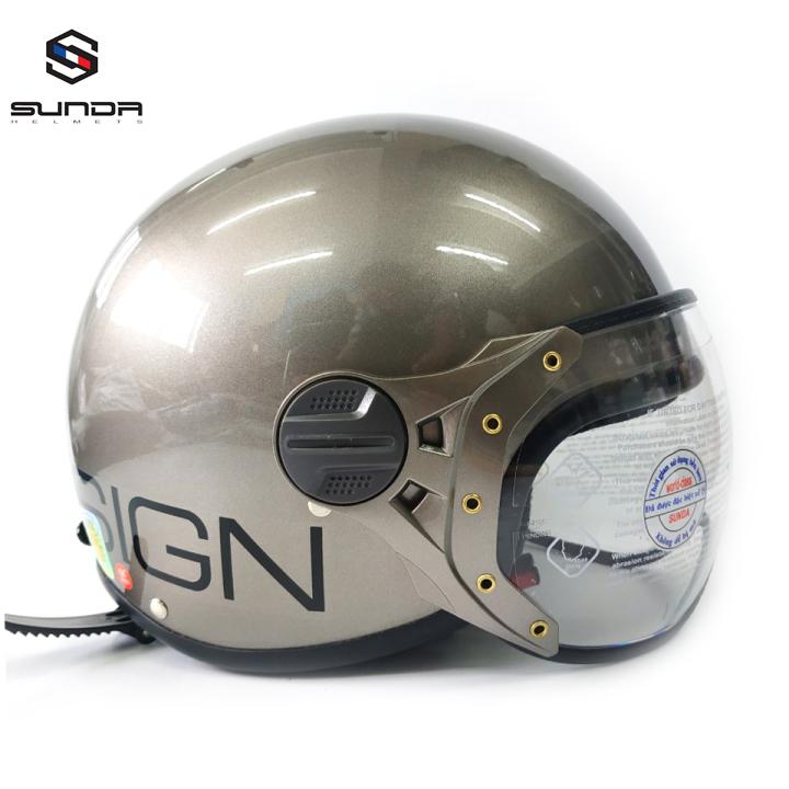 Mũ bảo hiểm ¾ Sunda 103D size nhỏ - Sunda 103D - tem