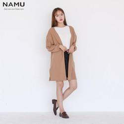 Áo khoác nữ Cardigan dài oversize hiệu NAMU AK09190
