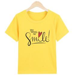 [ Được Xem Hàng -Hài Lòng Mới Thanh Toán ] Áo Thun nữ Chữ You Make Me Smile chất liệu Polly Cotton PM1294 sản phẩm gian hàng Pumbaa