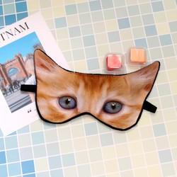 Miếng bịt mắt ngủ 3D tiện dụng cho người làm văn phòng hình mèo dễ thương tặng kèm 2 cặp nút tai giảm tiếng ồn