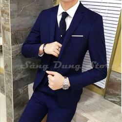 Combo bộ vest trung niên siêu thời trang  gồm quần và áo vest tặng cà vạt