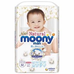 Tã Bỉm Moony Natural nội địa Nhật bông organic siêu mềm
