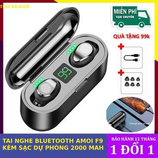 Tai nghe bluetooth 5.0 Amoi F9 kiêm sạc dự phòng 2000mAh - TAI NGHE AMOI F9 thumbnail