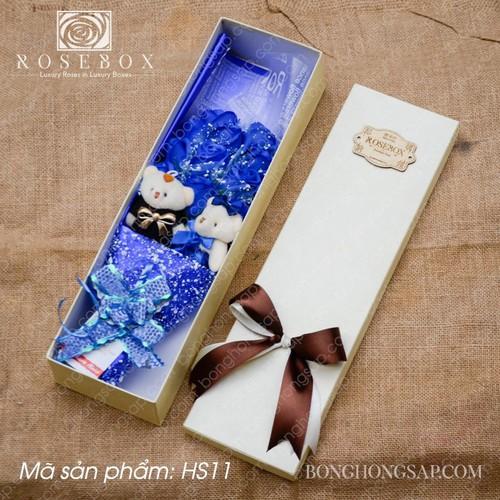 Hộp quà tăng hoa hồng kèm gấu hộp quà tăng hoa hồng kèm gấu