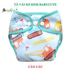 Tã bỉm vải BabyCute sơ sinh size SS từ 2 - 5kg - gồm 1 vỏ tã và 1 lót tã