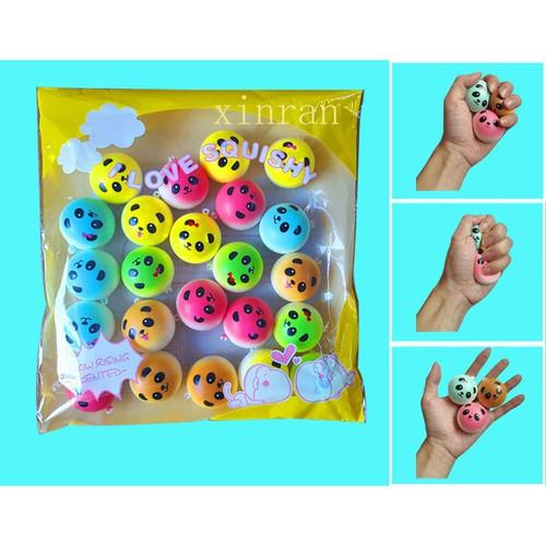 30pcs 4cm color panda squishy kawaii buns bread charms key bag cell phone straps loamini565 o xã hàng