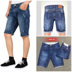 [ĐƯỢC KIỂM HÀNG] Quần shorts jean nam cào  cao cấp hàng công ty 2 màu size 27-32