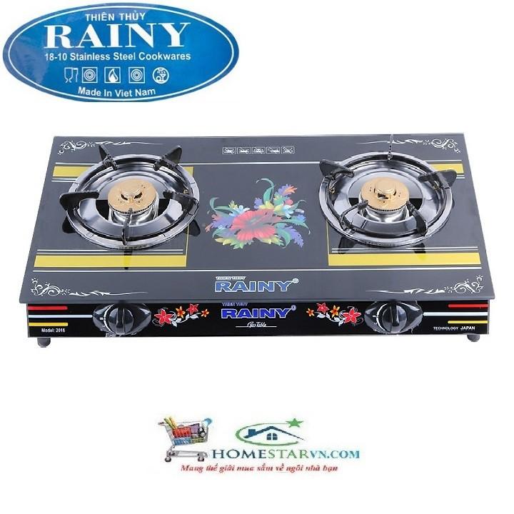Bếp Gas Đôi Chén Nhôm RAINY - RN1601TT- Hàng Chính Hãng - RN1601TT