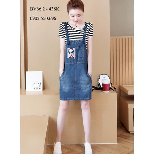 Đầm jean bigsize giấu bụng sành điệu bv66.2