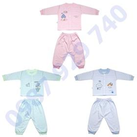 Combo 3 Bộ quần áo kẻ thu đông cao cấp chất nỉ mềm mịn cho bé trai, bé gái từ 3-13kg -3BNK bộ quần áo cho bé, quần áo thu đông cho bé - 3BNK