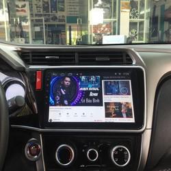 Màn hình Android 10.1 inchs Honda city chạy sim 4G, ra lệnh giọng nói