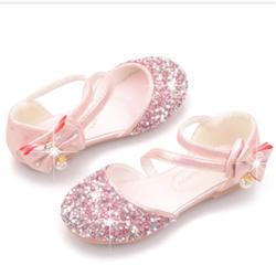 Giày Búp Bê Công Chúa Kim Sa Đính Nơ Cho Bé 20985