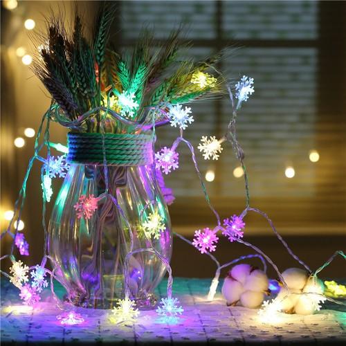 dây đèn led nhiều màu 5m bông tuyết - dây đèn led lm
