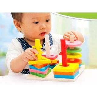 Đồ chơi trẻ em thông minh - Đồ chơi trẻ em thông minh - Bộ luyện tay luồn cọc ziczac - M01 thumbnail
