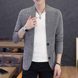 Áo khoác cardigan nam len dệt kim dày đẹp form chuẩn phối túi đẹp mẫu mới 2020