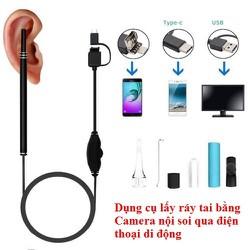 [HÀNG XỊN LOẠI 1] Dụng cụ lấy ráy tai bằng camera nội soi full HD kết nối với điện thoại