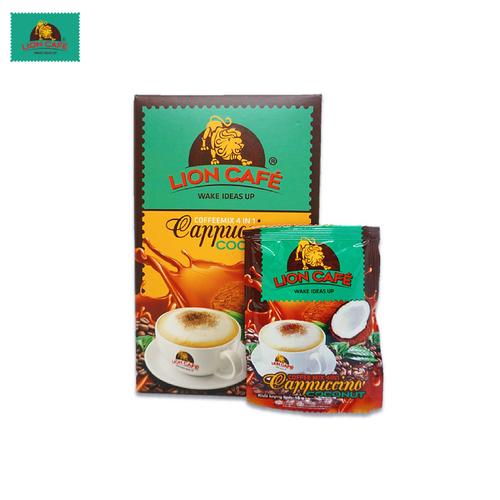 Cà phê hòa tan lion café 4in1 capuccino dừa - 20 gói x 18g