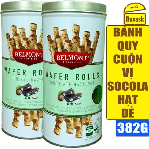 Bánh quy cuộn belmont vị socola hạt dẻ 382g - wafer rolls chocolate hazelnut - ruvask có kẹo gum, kẹo sâm hàn quốc, snack mực hủ - 20299941 , 22979314 , 15_22979314 , 279000 , Banh-quy-cuon-belmont-vi-socola-hat-de-382g-wafer-rolls-chocolate-hazelnut-ruvask-co-keo-gum-keo-sam-han-quoc-snack-muc-hu-15_22979314 , sendo.vn , Bánh quy cuộn belmont vị socola hạt dẻ 382g - wafer rolls