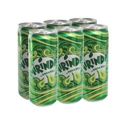 6 lon nước ngọt Mirinda vị soda kem 330ml