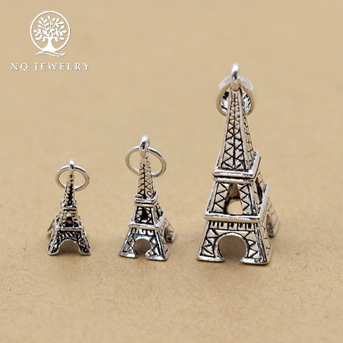 Phụ kiện bạc hình tháp eiffel treo - nq jewelry