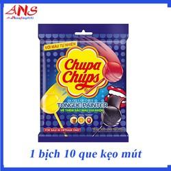 Kẹo Mút Chupa Chups hương trái cây hỗn hợp bịch 100g 10 que