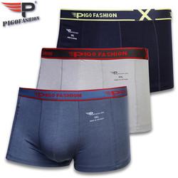 Siêu Đẹp Combo 3 cái Quần lót đùi Boxer nam cotton lạnh thoáng mát pigofashion QLPG03  - màu ngẫu nhiên