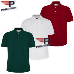 Siêu Đẹp Bộ 3 Áo thun nam Polo Big SIze từ 80 đến 110kg pigofashion cao cấp PB01- ve chai, trắng, đỏ đô