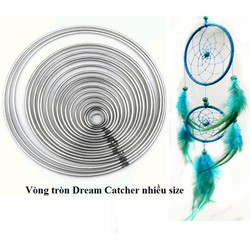 combo 5 Vòng kim loại làm dreamcatcher Size 4-5-6-7-8-9-10-12-14-16-18-20cm