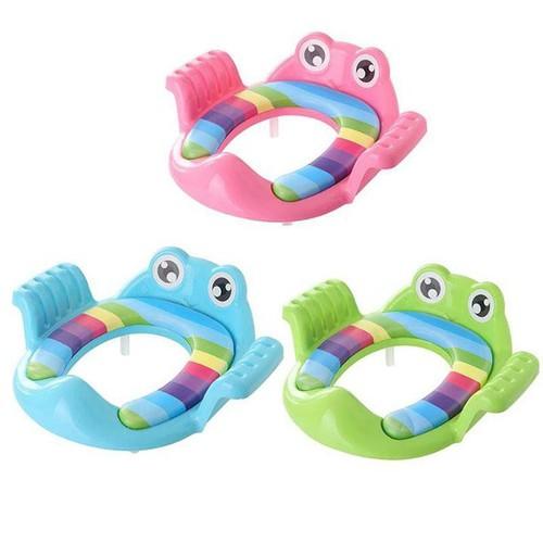 Kệ thu nhỏ bồn cầu hình ếch nghộ nghĩnh cho bé - kệ bồn cầu