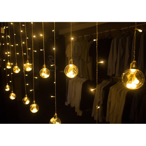 Đèn nháy mành nháy rèm hình cầu 12 bóng dài 6m