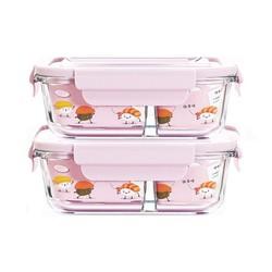 hộp cơm 2 ngăn - hộp thủy tinh