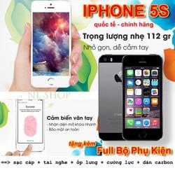 Iphone 5s Smartphone Cao Cấp-  Quốc Tế  - Chính Hãng - tặng full phụ kiện
