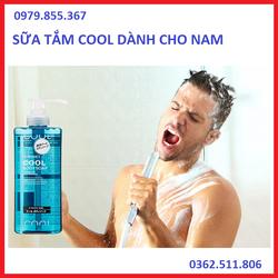 Sữa tắm Cool PHARMAACT cho nam chai có vòi 600ml