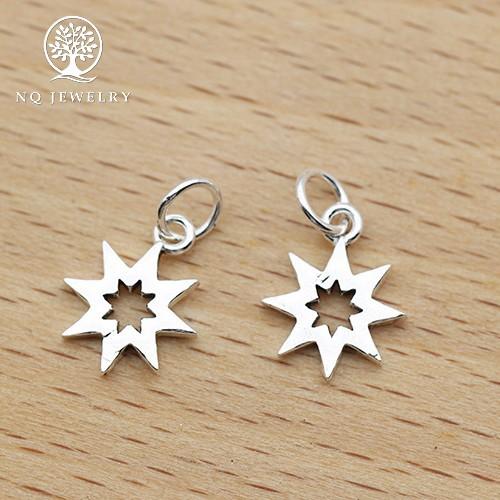 Phụ kiện bạc hình sao 8 cánh treo - nq jewelry