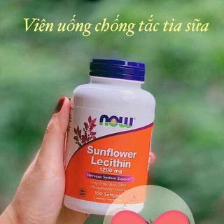 Viên uống chống tắc tia sữa Now Sunflower Lecithin 100v - Mỹ - Viên uống chống tắc tia sữa thumbnail