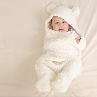 Áo ủ lông giữ ấm- Áo lông quấn người cho trẻ sơ sinh - Áo ủ lông giữ ấm 1 3