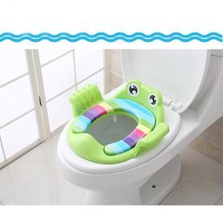 Kệ ngồi toilet cho bé nhựa Việt Nhật- kệ toilet hình con ếch - kệ toilet hình con ếch thumbnail