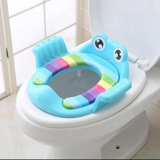 Tấm lót thu nhỏ bồn cầu- - Tấm lót thu nhỏ bồn cầu cho bé hình con ếch - Tấm lót thu nhỏ bồn cầu thumbnail