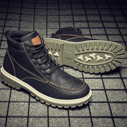 Boot nam cao cấp da pu giày sneaker