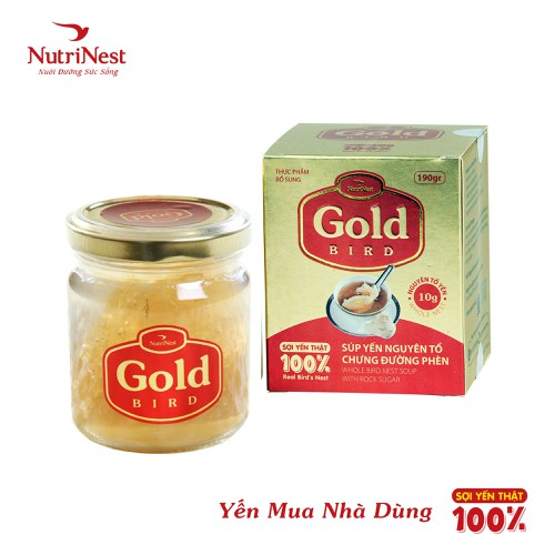 Gold bird - nước yến sào nguyên tổ chưng đường phèn nutrinest - hũ đơn 190g - 20318996 , 23014590 , 15_23014590 , 495000 , Gold-bird-nuoc-yen-sao-nguyen-to-chung-duong-phen-nutrinest-hu-don-190g-15_23014590 , sendo.vn , Gold bird - nước yến sào nguyên tổ chưng đường phèn nutrinest - hũ đơn 190g